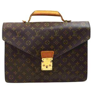 Auth Louis Vuitton Serviette Briefcase #6443B11